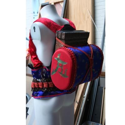 Muziek verwerkt in rugzak Samurai