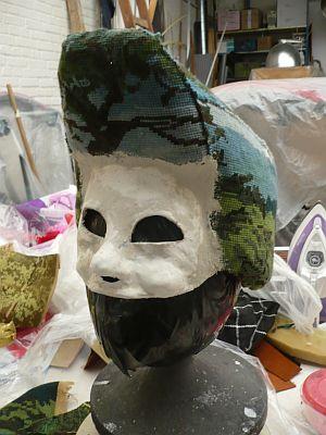Opbouw masker soldaat