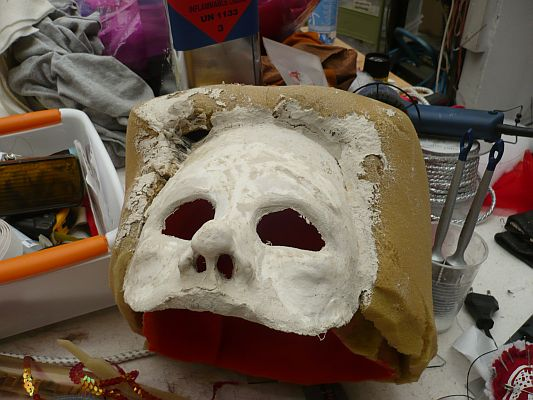 Opbouw masker vrouw